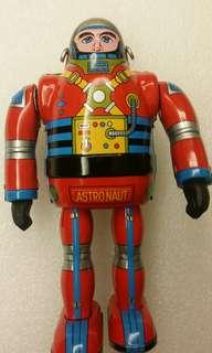 日本製 太空人 鐵皮玩具