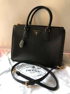 🈹🈹🈹Prada 經典十字紋手挽袋 Saffiano Galleria Bag大size✨