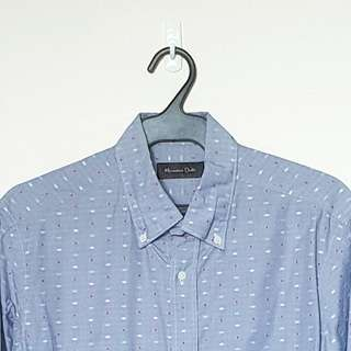 Massimo Dutti Blue with embroidered accent