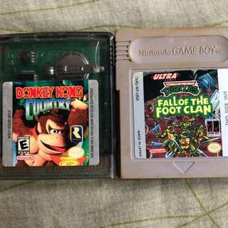 Authentic and Rare Gameboy Color Cartridges