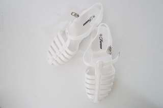 White Plastic Jelly Shoes