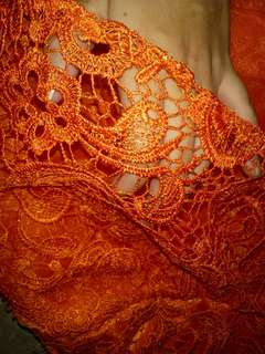 Orange Gown - Gown - Debut Gown - Prom Gown - Dress Orange - Party Gown - Lace Gown
