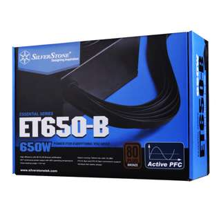 SILVERSTONE Essential 650W 80 Plus Bronze Power Supply (FLAT Cable)
