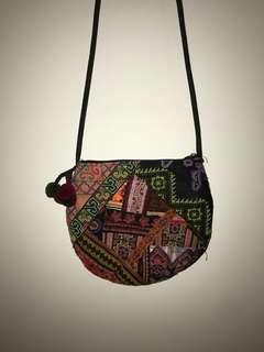 Patchwork multicoloured shoulder bag