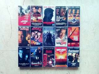 Action Movies VHS Video Tapes