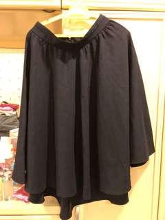 Zara midi dress in navy blue