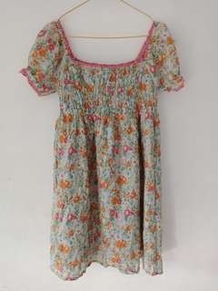 Dress bunga pendek