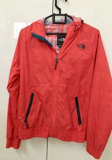 Red Womens North Face Rain Jacket, windbreaker