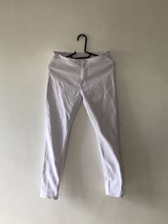 High Waist White Pants