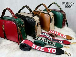 Tas F*SH**N Love You Ordesia Style Bag Double Zippers & Double Strip