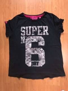 Superdry Boyfriend black t-shirt