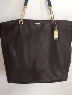 Large Coach Pebble Leather Bag