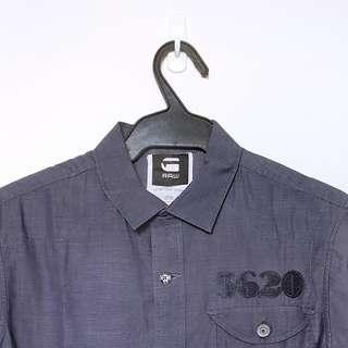 Gray Military Style short sleeved shirt
