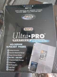 Ultra pro 9 pocket 3 hole card sleeve platinum series