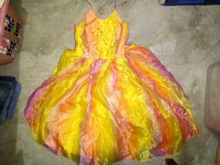 Kid Gown - Kids Gown - Rainbow Gown - 7th Birthday Gown - Colorful Gown - Dress - Debut Gown - Princess Gown