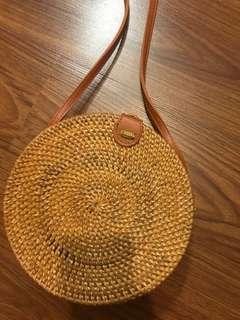 Bali Rattan Round bag