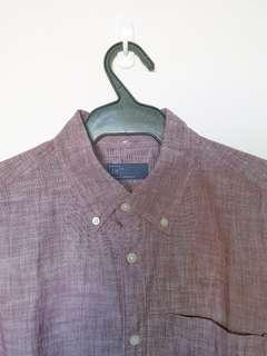 GAP Old Rose Linen Button Down