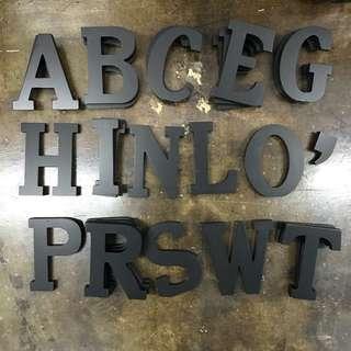 TYPO Alphabets (Black)