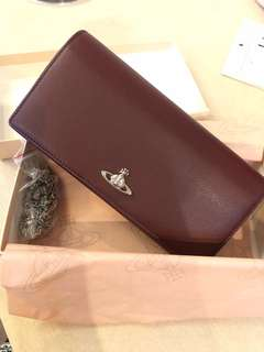 vivienne westwood long wallet with chains