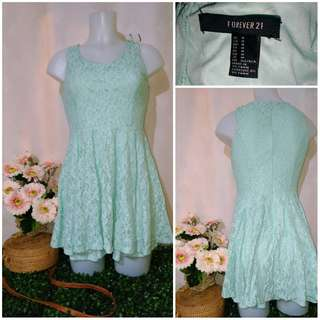 Forever 21 Mint Green Lace Dress