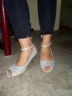 Silver Shoes - Princess Shoes - Silver Sandals Silver Heels - SIlver pumps