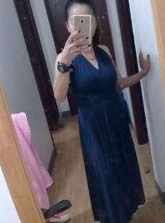 Royale blue long gown