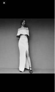 Apartment eight inspired off white long gown