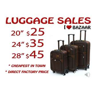 CHEAPEST IN TOWN CANVAS LUGGAGE