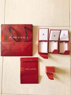 Poh Heng Paper Bag/ Jewelry /Bracelet / ring box  / Gift Box