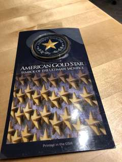 American Gold Star coin