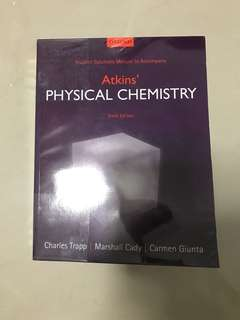 CM1131 Atkins' Physical Chemistry