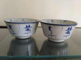 Vintage rice bowls