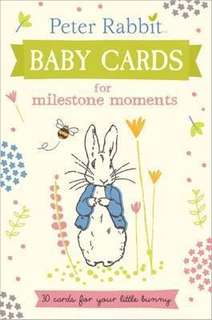 Peter Rabbit milestone cards
