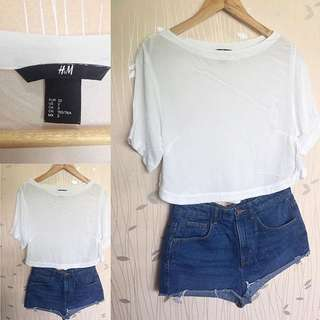 H&M White Cropped Top ❤️