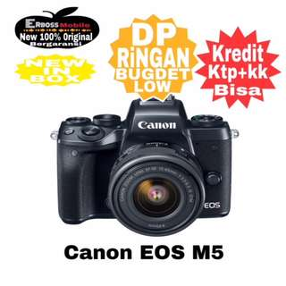 Canon EOS M5 Kit 15-45mm Resmi-Cash/kredit DP 2jt ditoko ktp+kk wa;081905288895