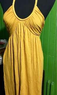 Forever 21 Mustard Halter Dress