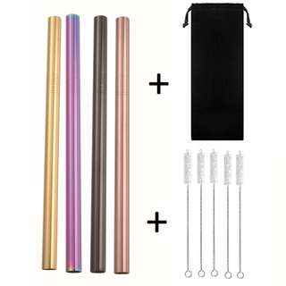 [FREE Gift!] Coloured Reusable Bubble Tea Straws (304 Grade)