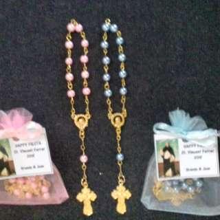 Pocket Rosary Pearl Gold Souvenirs and Giveaways wedding baptismal birthday