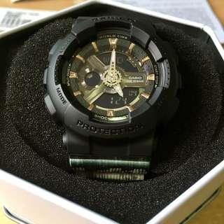 🚚 Casio Baby-G Black x White BA-110GA Watch