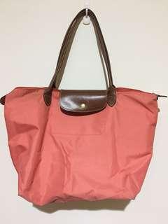 🚚 Longchamp 粉色長柄包包(大)