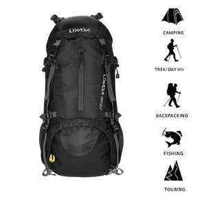 50L Waterproof Outdoor Sport Hiking Trekking Camping Travel Backpack Pack Mountaineering Climbing Knapsack with Rain Cover