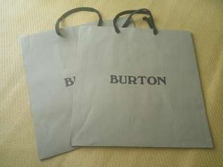 Burton paper bag 名牌紙袋