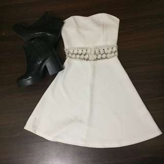 (2 for $8) white bustier dress