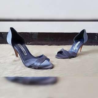 Manolo Blahnik Satin Sandals