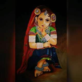 Rural Girl painting