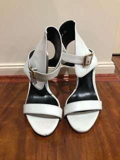 White Ankle-Strap Heels