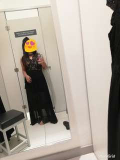 Black long dress/gown