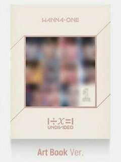Wanna One Undivided Album Art book Ver
