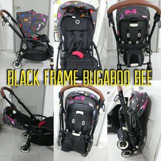 Bugaboo bee black frame limited edition