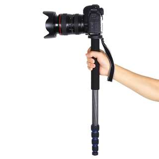 Carbon Fiber Extendable 5-Section Monopod With Carrying Bag For Digital Camera Camcorder